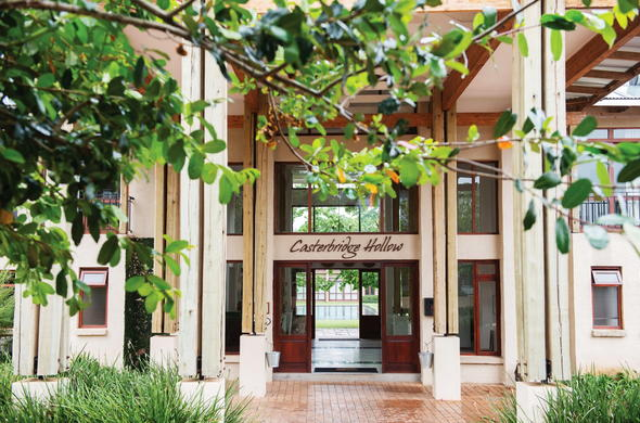 Entrance at Casterbridge Hollow Boutique Hotel.