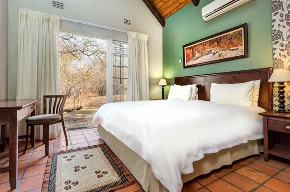 Self - catering fully equipped chalet at Protea Hotel Kruger Gate.