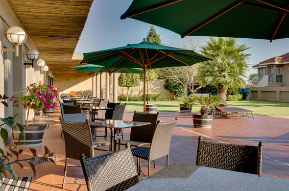 Outdoor patio at Protea Hotel Witbank.